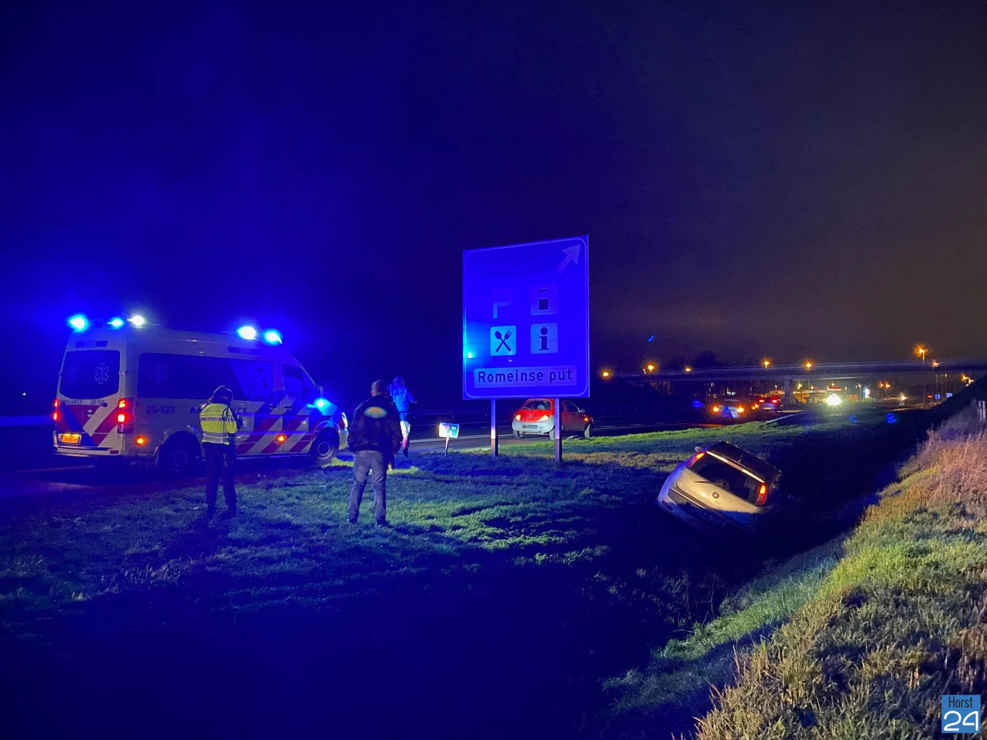 Ongeval A73 bij #Horst #Venray #ongeval #112.